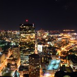 Boston skyline - from the 50th floor of Prudential Center