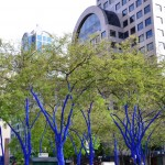 These trees painted blue looked eerie and were probably inspired by Avatar