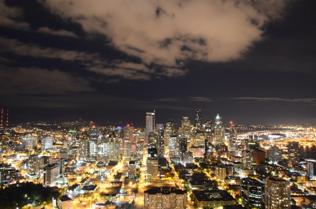 View of the city from the Space Needle