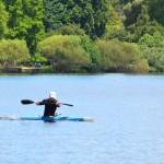 Kayaking over Green Lake