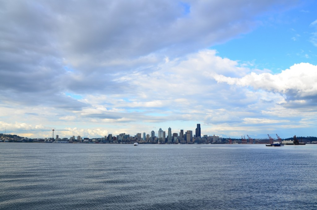 View of the downtown from West Seattle